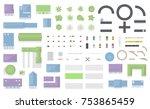 set of landscape elements. city ... | Shutterstock .eps vector #753865459