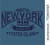 new york hand drawn artwork... | Shutterstock .eps vector #753865465