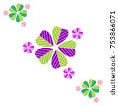 flower colored vector isolated... | Shutterstock .eps vector #753866071