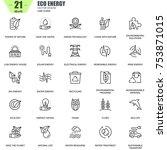 thin line environment ...   Shutterstock .eps vector #753871015