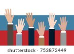 vote for russia. people... | Shutterstock .eps vector #753872449