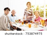 happy asian family having... | Shutterstock . vector #753874975