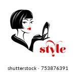 beautiful woman with nice... | Shutterstock .eps vector #753876391