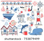 vector doodle illustration.... | Shutterstock .eps vector #753879499