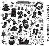 Christmas Retro Icons Set....