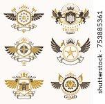 vintage heraldry design... | Shutterstock .eps vector #753885361