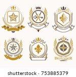 set of vector vintage elements  ... | Shutterstock .eps vector #753885379