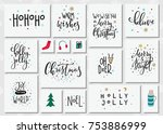 merry christmas tree happy new... | Shutterstock .eps vector #753886999