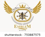 heraldic coat of arms made in... | Shutterstock .eps vector #753887575