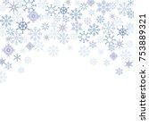 vector christmas card template. ... | Shutterstock .eps vector #753889321