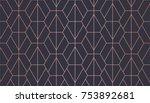 hexagon pattern. endless.... | Shutterstock .eps vector #753892681