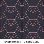 hexagon pattern. endless.... | Shutterstock .eps vector #753892687