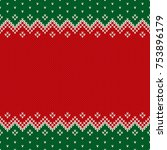 christmas design knitted...