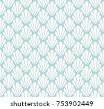 art deco seamless pattern.... | Shutterstock .eps vector #753902449