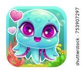 app icon with funny cartoon...