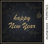 merry christmas quote  vector... | Shutterstock .eps vector #753907621