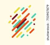 modern geometric pattern with...   Shutterstock .eps vector #753907879