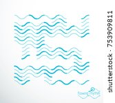 flowing stripes  vector... | Shutterstock .eps vector #753909811