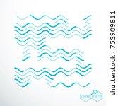 flowing stripes  vector... | Shutterstock .eps vector #753909811