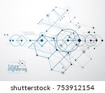 engineering technological... | Shutterstock .eps vector #753912154