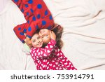 happy childhood  family  love ... | Shutterstock . vector #753914791