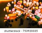 syringe  drug use and... | Shutterstock . vector #753920335