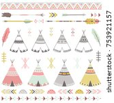 Tribal Teepee Tens Elements