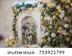 christmas decorations and... | Shutterstock . vector #753921799
