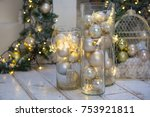christmas decorations and... | Shutterstock . vector #753921811