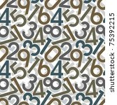 Numbers. Seamless Wallpaper On...