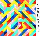 abstract 1980 memphis geometric ...   Shutterstock .eps vector #753924115