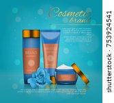 vector 3d cosmetic illustration ... | Shutterstock .eps vector #753924541
