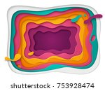 3d abstract background with...   Shutterstock .eps vector #753928474