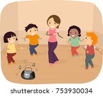 illustration of stickman kids... | Shutterstock .eps vector #753930034