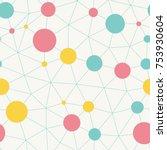 vector seamless pattern.... | Shutterstock .eps vector #753930604