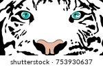 tiger eyes predator | Shutterstock .eps vector #753930637