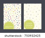 covers with flat geometric...   Shutterstock .eps vector #753932425