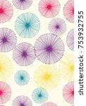 seamless dandelion pattern with ...   Shutterstock .eps vector #753932755