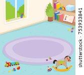 kindergarten room  playroom... | Shutterstock .eps vector #753933841