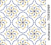 traditional portugal azulejos... | Shutterstock .eps vector #753935989