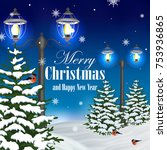 christmas and new year greeting ...   Shutterstock .eps vector #753936865
