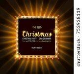 invitation merry christmas...   Shutterstock .eps vector #753938119