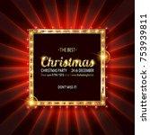 invitation merry christmas...   Shutterstock .eps vector #753939811
