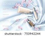 sakura flower cosmetic... | Shutterstock .eps vector #753942244