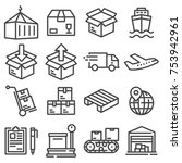 shipping vector icons for... | Shutterstock .eps vector #753942961