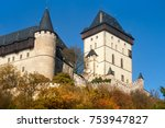 royal castle karlstejn in... | Shutterstock . vector #753947827