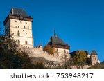 royal castle karlstein in czech ... | Shutterstock . vector #753948217