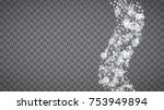 winter frame with white... | Shutterstock .eps vector #753949894