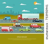 speed highway design concept... | Shutterstock . vector #753950941