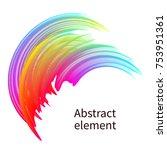 abstract bright design element... | Shutterstock .eps vector #753951361